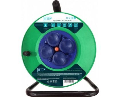 Удлинитель на катушке UK-4g-50m-Z-IP44 c 4 евророзетками ( с/з ) 50м купить