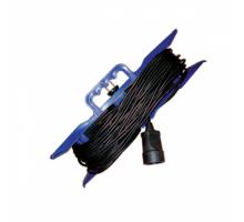 Удлинитель на рамке UR-1g-10m с 1 евророзеткой ( б/з ) 10м