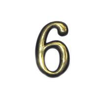 Номерок дверной №6 (большой) KL-91-6