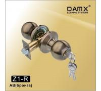 Ручка-защелка DAMX Z1-R AB с ключом (бронза)