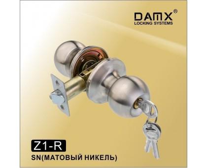 Ручка-защелка DAMX Z1-R SN с ключом (матовый никель)
