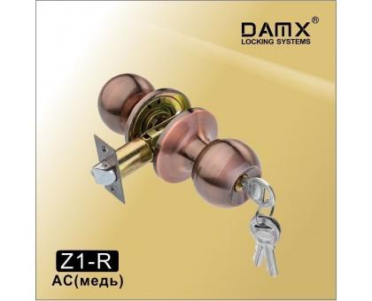 Ручка-защелка DAMX Z1-R AC с ключом (медь)