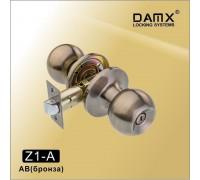 Ручка-защелка DAMX Z1-A AB с фиксатором (бронза)