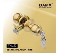 Ручка-защелка DAMX Z1-R SB с ключом (матовая латунь)