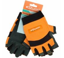 Перчатки STURM рабочие мужские с открытыми пальцами 8054-02-XL