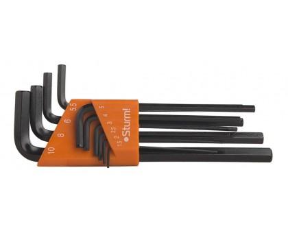 Набор ключей шестигранных Cr-V 1,5-10мм 10шт в кейсе STURM