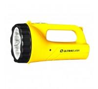 Фонарь аккумуляторный Ultraflash LED3816SM 220В желтый 9LED, 2 режима, SLA