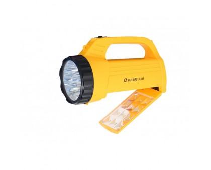 Фонарь аккумуляторный Ultraflash LED3819CSM 220В желтый 9LED +12SMD LED, 2 режима, SLA