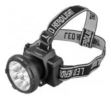 Фонарь налобный Ultraflash LED5363 220В, черный, 9LED, 2 режима