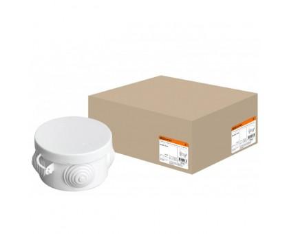 Коробка распаячная ОП 65х40мм, крышка, IP54, 4вх. TDM