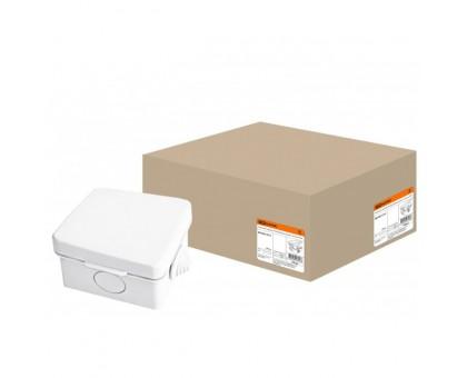 Коробка распаячная ОП 65х65х50мм, крышка, IP54, 4вх. TDM