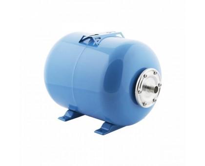 """Гидроаккумулятор """"СТК"""" 50л горизонтальный с площадкой, G1"""", пласт.фланец, синий"""
