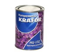 """Эмаль НЦ-132 0,7кг желтая """"KRAFOR"""""""