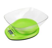 Весы кухонные ERGOLUX ELX-SK04-C16 салатовые, до 5кг