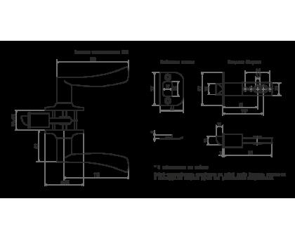 Защелка м/к (ключ/фикс.) ЗВ2-01(стар.медь)