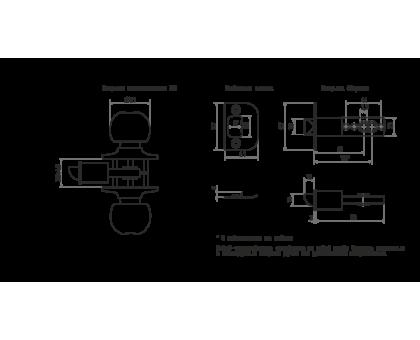 Защелка м/к (ключ/фикс.) ЗШ-01 (стар.бронза)