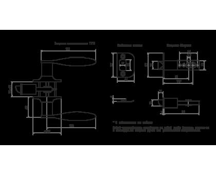 Защелка м/к ТТ12-05 (ст.медь)