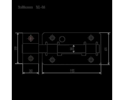 Задвижка дверная ЗД-06 цинк