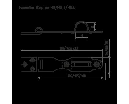 Накладка амбарная НДА (L-180мм) цинк (100)