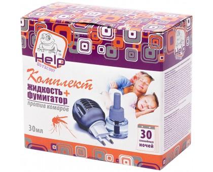 """Комплект от комаров """"HELP"""" (фумигатор+жидкость 30 ночей)"""