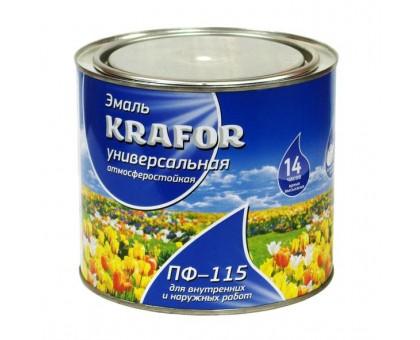 """Эмаль ПФ-115 светло-фиолетовая 1,8кг """"KRAFOR"""""""