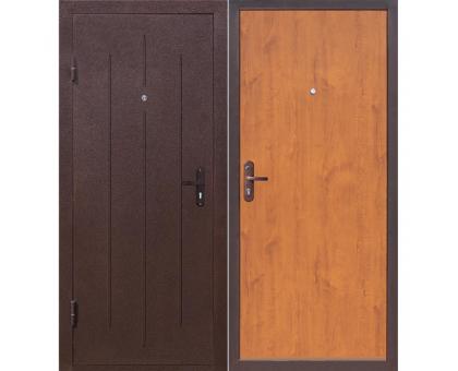 Дверь металл. СТРОЙГОСТ 5-1, левая 880х2060мм Золотистый дуб