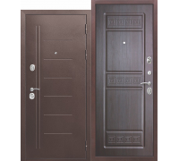 Дверь металл. ТРОЯ Медный антик 10см, правая 860х2050мм Венге