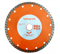 Диск алмазный Bohrer Мастер 180х22,2 (сегмент 7 мм) (турбо), сухой рез, по бетону/кирпичу/камню