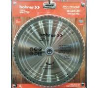 Диск пильный по дереву Bohrer Мастер 255x30/20 мм, 60Т зубьев (чистый рез)