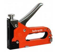 Степлер мебельный Bohrer усиленный 4-14 мм (тип скобы 53) регулируемый, металлический