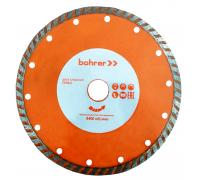 Диск алмазный Bohrer Мастер 115х22,2 (сегмент 7 мм) (турбо), сухой рез, по бетону/кирпичу/камню