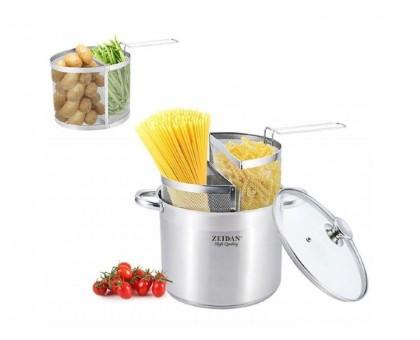 Кастрюля для спагетти и овощей 9,0л ZEIDAN