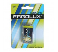 Батарейка ERGOLUX 6LR61 9B Alkaline BL-1
