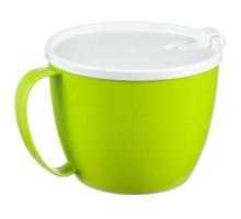 Кружка для супа 0,7л с крышкой, салатовый М1214