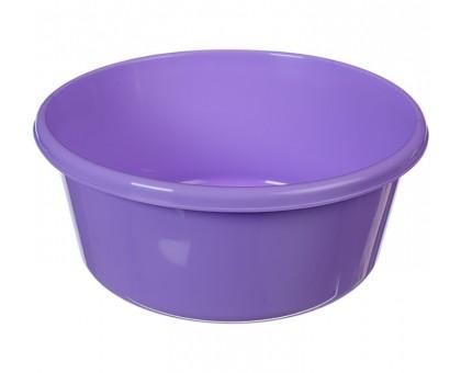 Таз пластмассовый 11,0л круглый, лиловый М2513
