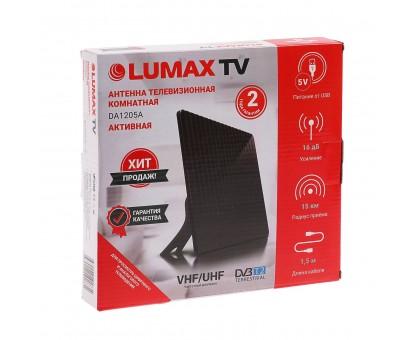 """Антенна комнатная """"LUMAX"""" DA1205A активная 470-862 МГц, 13-15дБ, 5В USB"""