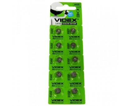 Батарейка VIDEX AG5 393, 754 10BP