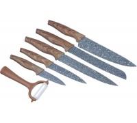 Набор ножей SATOSHI с антибактериальным антиналипающим покрыти 6 предметов 803-087