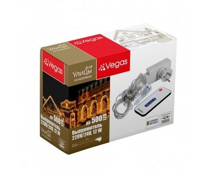 """Блок питания (преобразователь) """"VEGAS"""" 220V/24V, 12W с пультом (максимальное подключение 500 LED)"""