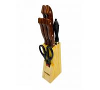 Набор ножей DANIKS 8 предметов на деревянной подставке YW-A301-7