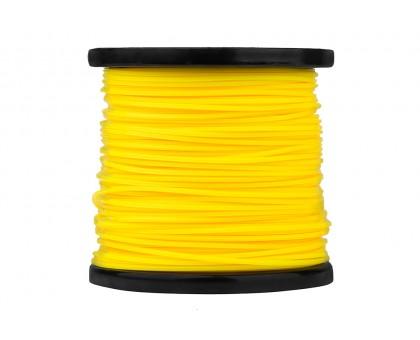 Леска для триммера, d=2,4мм, L=120м, ЗВЕЗДА, желтый, СОЮЗ