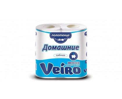 Полотенце бумажное Veiro Домашнее 2-х слойное 2шт