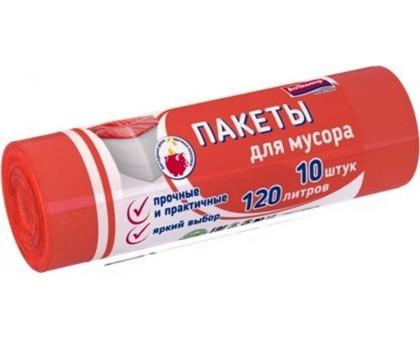 Пакеты для мусора АВИАКОМП 120л/10шт жёлтые