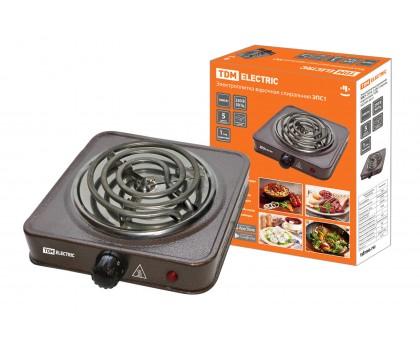 Плита электрическая однокомфорочная TDM ЭПС1 1,0кВт спираль 230В коричневая купить