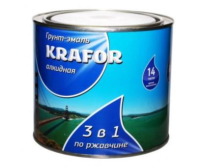 Грунт-эмаль по ржавчине KRAFOR 3в1 серая 1,9кг