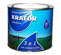 Грунт-эмаль по ржавчине KRAFOR 3в1 шоколадная 1,9кг