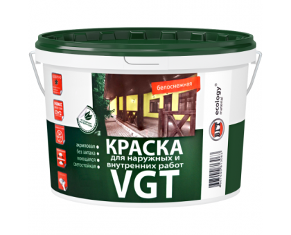 Краска ВД АК 1180 моющаяся, белоснежная для наружных и внутренних работ 3,0кг ВГТ