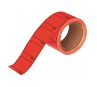 Ценники самоклеящиеся Цена 35х25мм, красная 250шт рулон