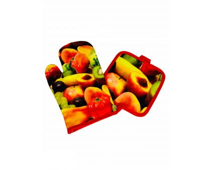"Набор кухонный ""Фрукты"" прихватка + рукавица Y6-1917"