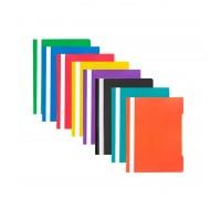 Скоросшиватель пластиковый Attache Economy Элементари А4 до 100 листов бирюзовый 0.15/0.18 мм
